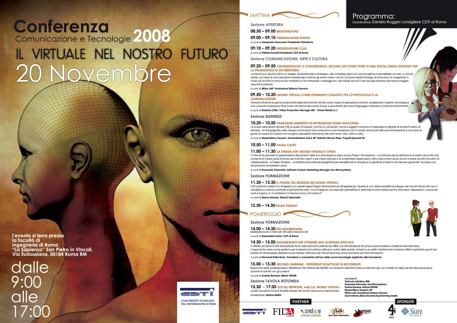 """best website 97b0e 06cc3 il nostro futuro"""", organizzato dal CDTI (Club Dirigenti Tecnologie  dell Informazione) e che si terrà a Roma"""